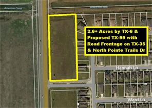 Property for sale at 0 Highway 35 & N. Point Trails, Alvin,  Texas 77511